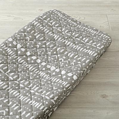 Wild Excursion Grey Tribal Changing Pad Cover