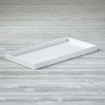 Topside White Glaze Changing Table Topper