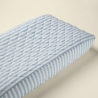 Blue Stripe Changer Pad Cover