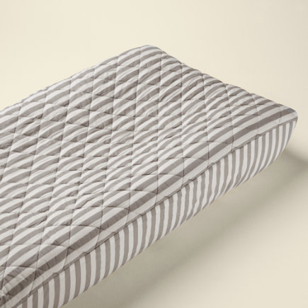 Baby Changers: Baby Khaki Stripe Changing Pad Cover - Khaki Stripe Changing Pad Cover