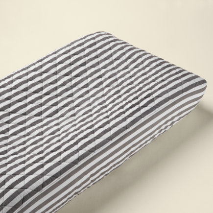 Baby Changers: Baby Grey Stripe Changing Pad Cover - Grey Stripe Changing Pad Cover