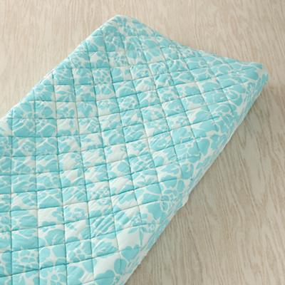 Dream Girl Changing Pad Cover (Aqua Floral)