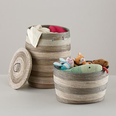 Charming Baskets (Silver Stripe)