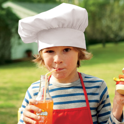 Kids Play BBQ Chef Hat - White BBQ Chef Hat