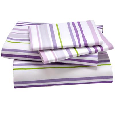 Full Citrus Stripe Sheet Set (Lavender)