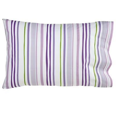 Citrus Stripe Lavender Pillowcase