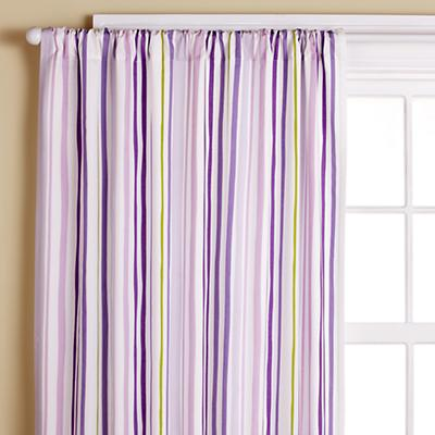 "84"" Lavender Citrus Stripe Panel<br />(Sold Individually)"