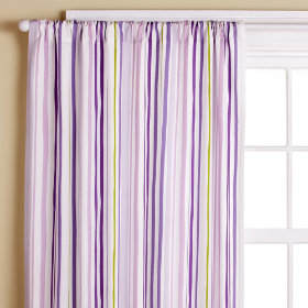 "Home Styles London Stripe Curtain Panel Pairs - 108x84"", Back-Tab"
