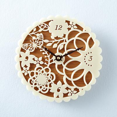Lace Face Wall Clock