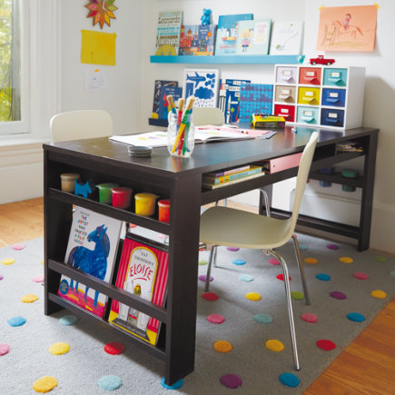 Kids Rugs: Kids Multi Color Dot Candy Grey Rug - 4 x 6 Grey Candy Dot Rug