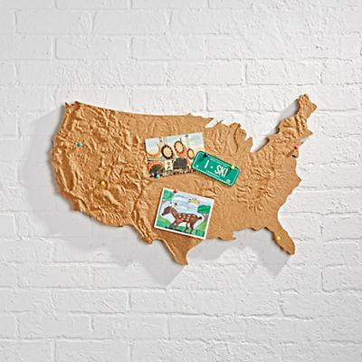 USA Cross Country Corkboard