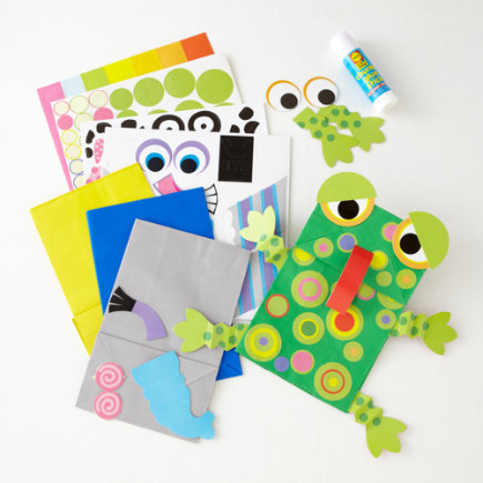 Kids Imaginary Play: Kids Animal Paper Bag Puppets - Paper Bag Puppets