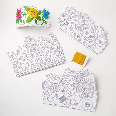 Color a Crown Kit (Birds and Blooms)