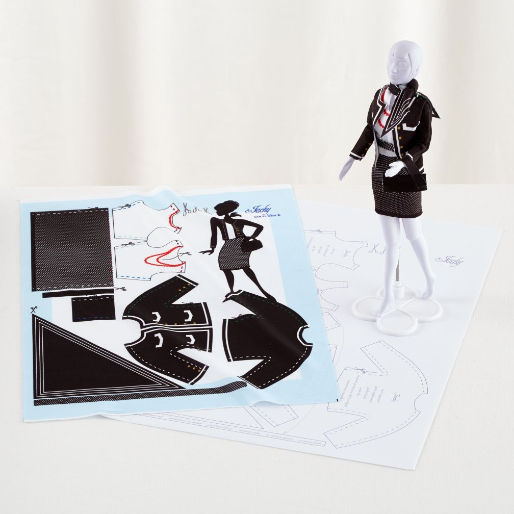 Dress Your Doll Clothing Pattern (Jackie Coco Black)