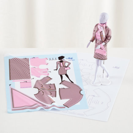 Jackie Coco Pink: Doll Dress Pattern - Jackie Coco Pink Dress Pattern