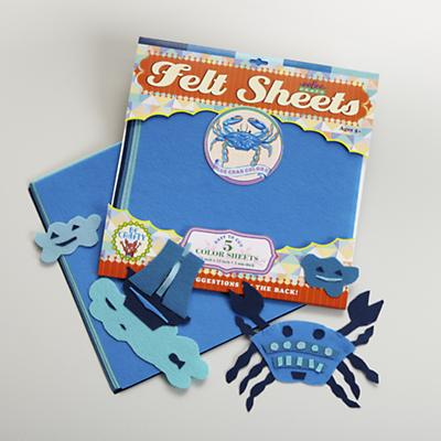 Blue Crab Felt Sheets Set