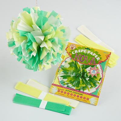 Green Hanging Paper Blooms Kit