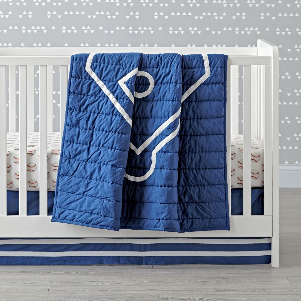 Nod Baseball Crib Bedding