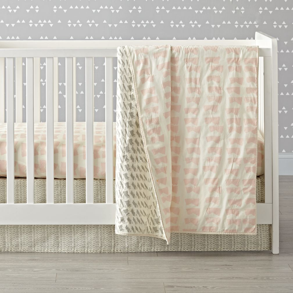 Daily Sketch Pink Crib Bedding