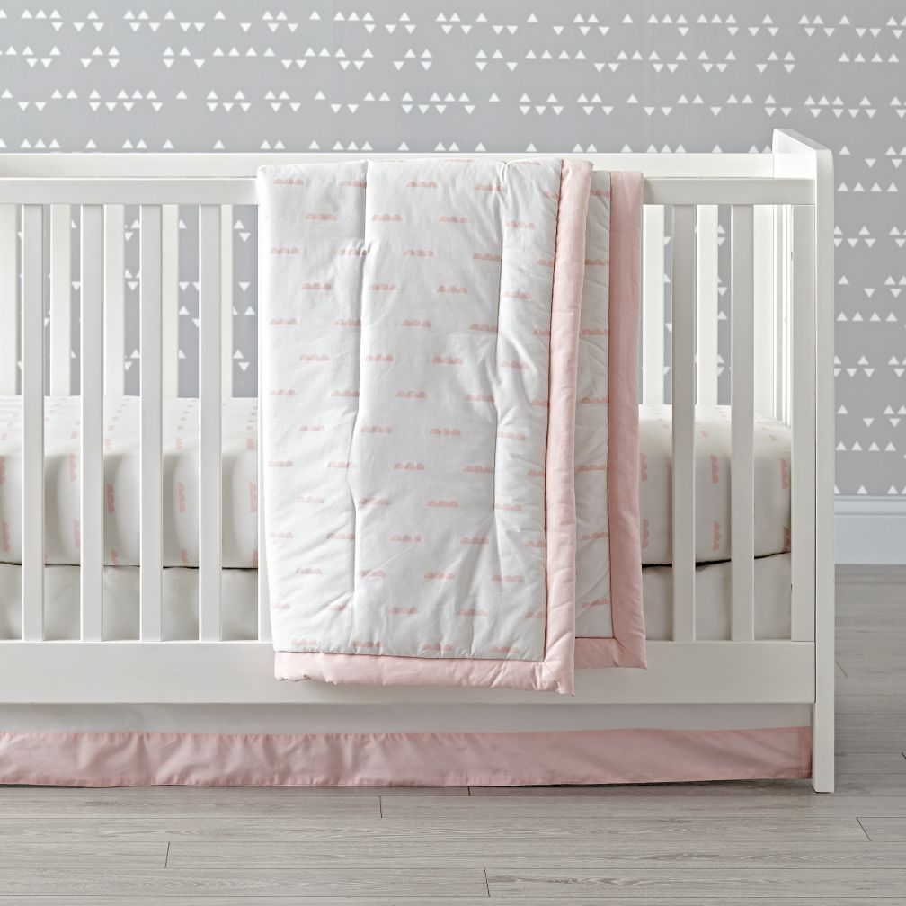 Iconic Pink Clouds Crib Bedding