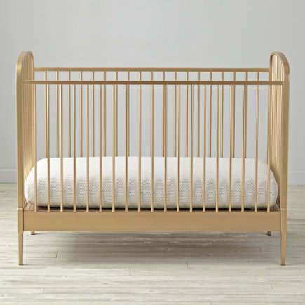 Larkin Gold Metal Baby Crib - Larkin Crib