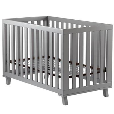 Grey Low-Rise Crib (Grey Frame w/Grey Base)