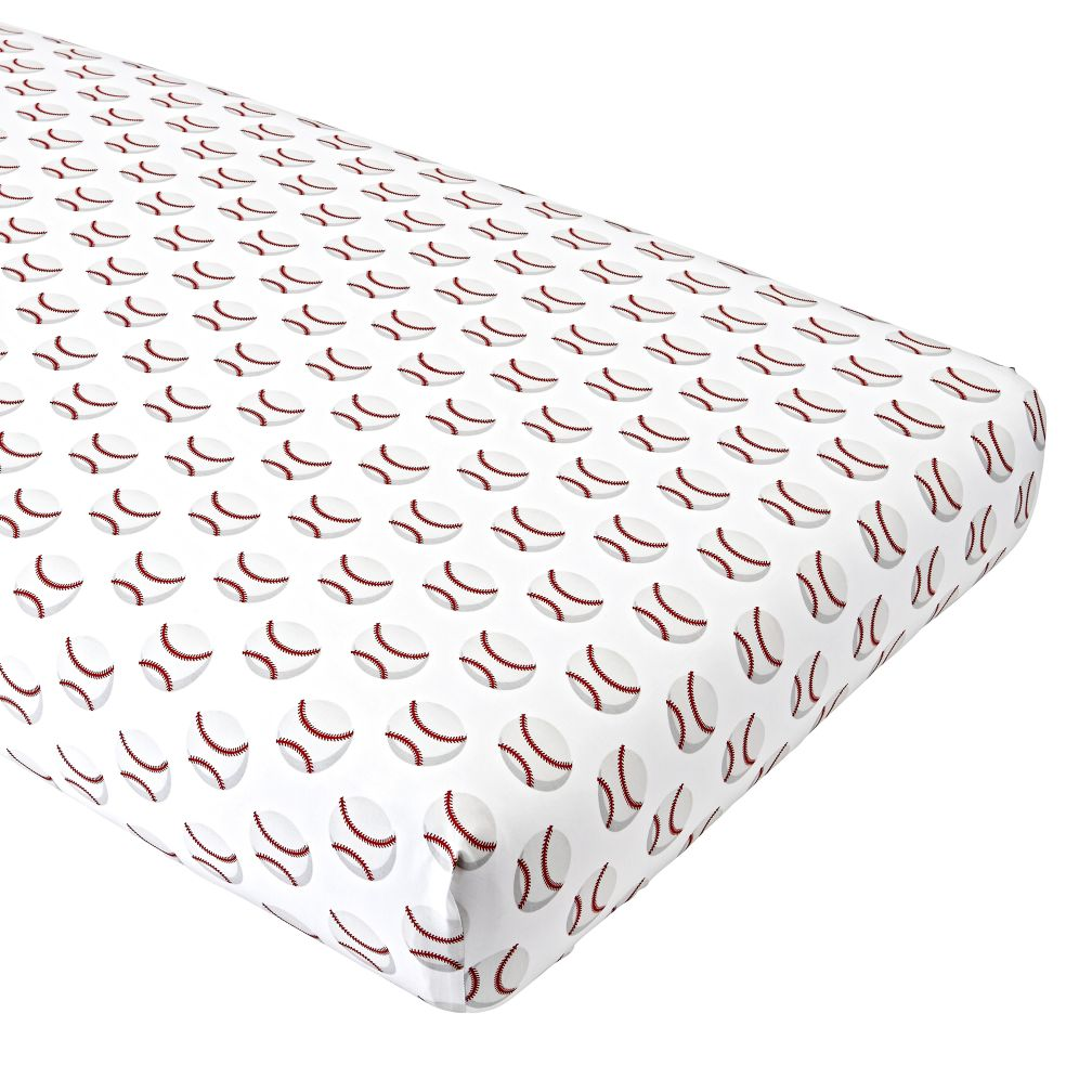 Organic Nod Baseball Crib Fitted Sheet