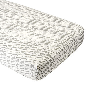 Organic Daily Sketch Grey Crib Fitted Sheet
