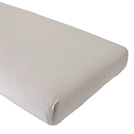 - Organic Iconic Grey Crib Fitted Sheet