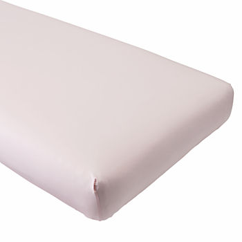 Organic Iconic Pink Crib Fitted Sheet