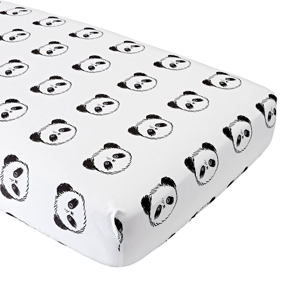 Organic Panda Crib Fitted Sheet