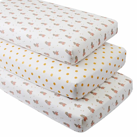 Royal Hippo Crib Fitted Sheets Set Of 3 The Land Of Nod
