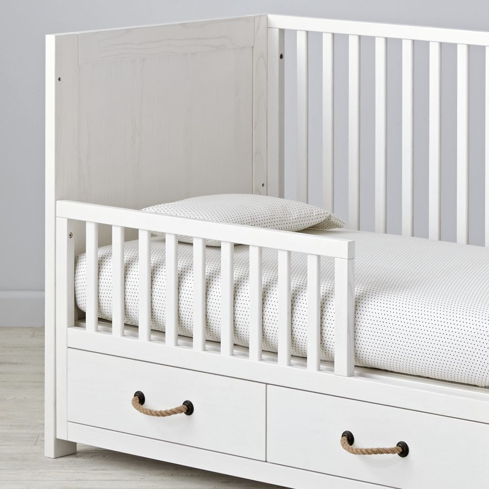 Topside White Glaze Toddler Rail