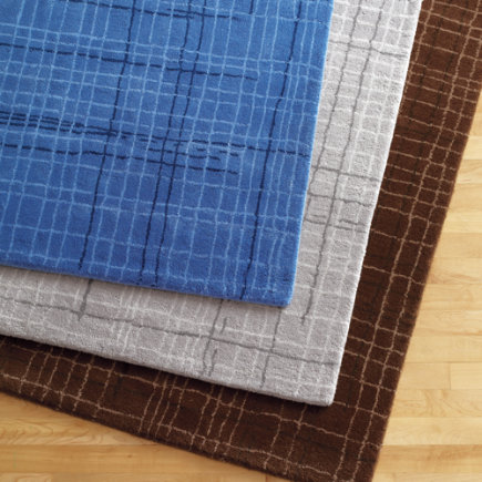 Kids Rugs: Kids Brown Criss-Cross Pattern Rug - 4 x 6 Brown Rug