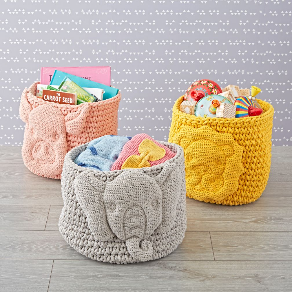 Baby Animal Knit Bin