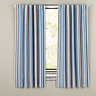 "96"" Blue/Yellow Side Striped Blackout Curtain"