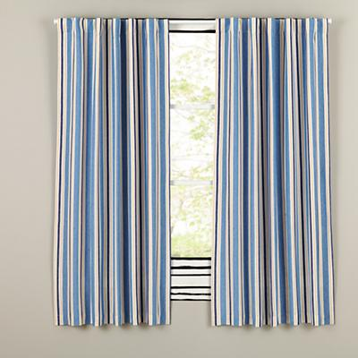 "96"" Side Striped Blackout Curtain"