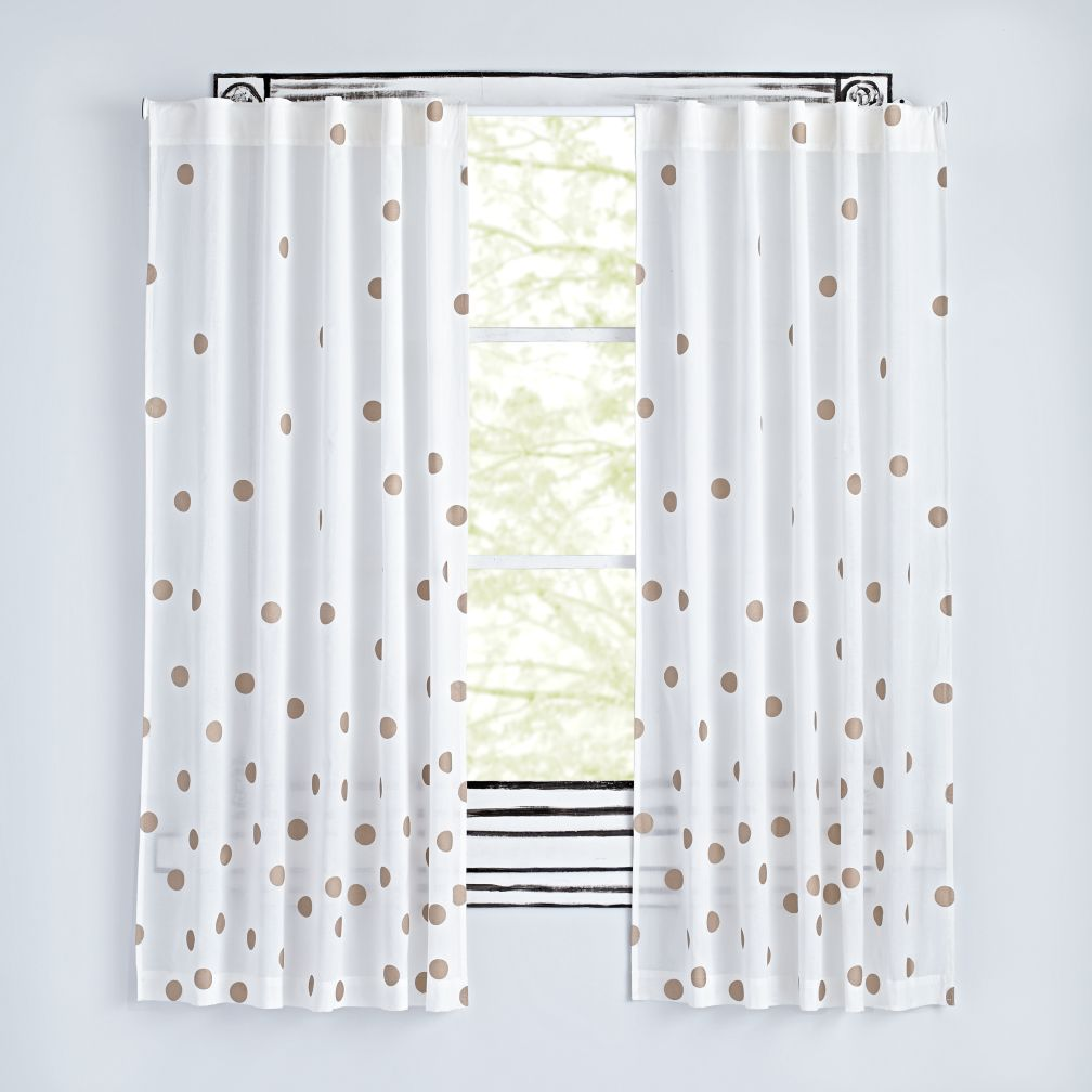 Champagne Dot Curtains