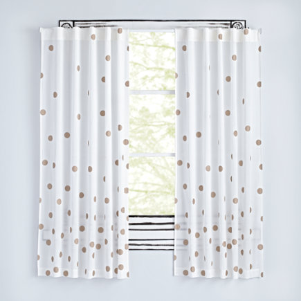 63 Champagne Dot Curtain(Sold Individually)
