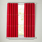 "96"" Red Canvas Curtain (Sold individually)"
