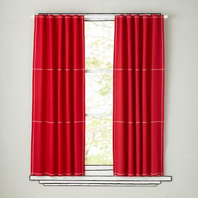 Canvas Curtains (Red)