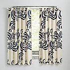 "63"" Navy Cloudscape Curtain(Sold Individually)"
