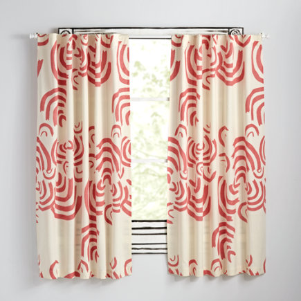 63 Pink Cloudscape Curtain(Sold Individually)