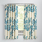 "63"" Teal Cloudscape Curtain(Sold Individually)"