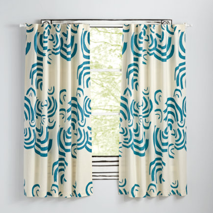 63 Teal Cloudscape Curtain(Sold Individually)