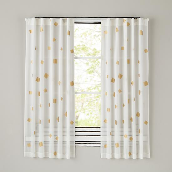 Gold Confetti Curtain Panels The Land Of Nod