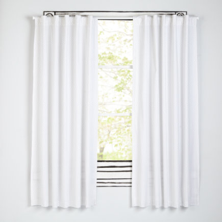Early Edition Curtains (Black) - 63 Black Dot Early Edition Curtain (Sold Individually)