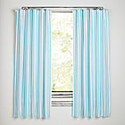 "84"" Blue Stripe Early Edition Curtain (Sold Individually)"