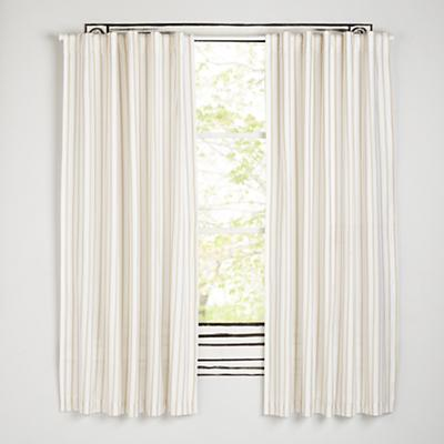 Early Edition Curtains (Khaki Stripe)