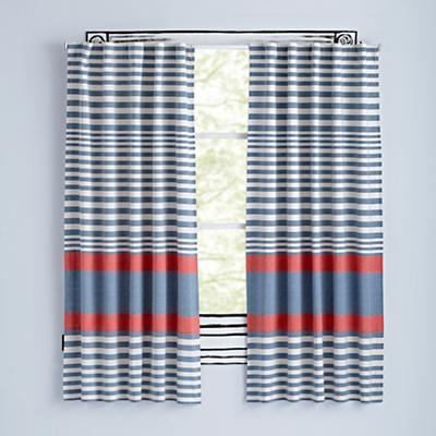 "96"" Red Fine Lines Curtain"